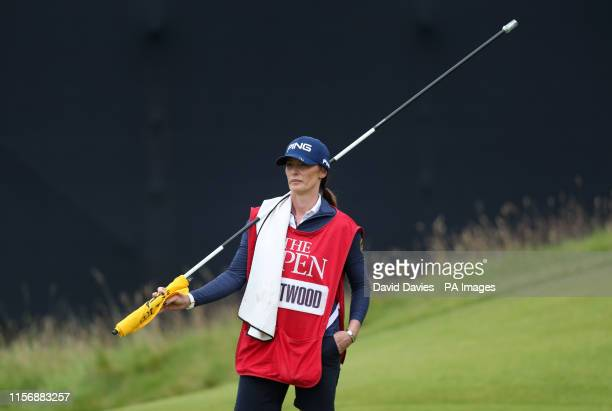 Lee Westwood's caddie and girlfriend Helen Storey during day three of The Open Championship 2019 at Royal Portrush Golf Club