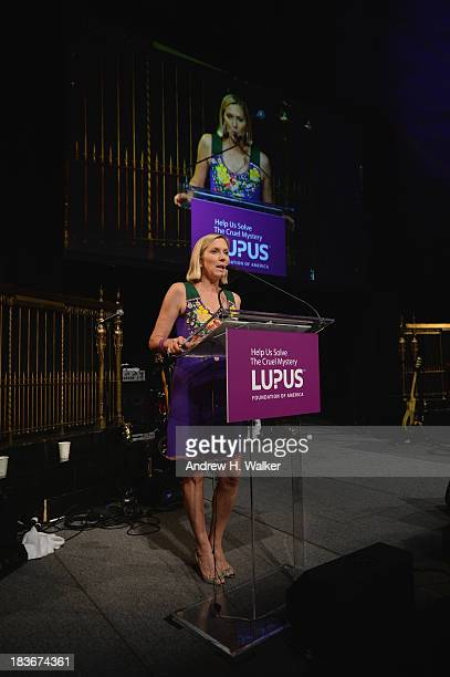 Lee Woodruff speaks at the Lupus Foundation Of America National Gala at Gotham Hall on October 8 2013 in New York City