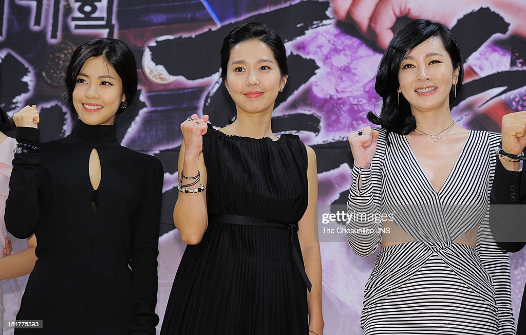 Lee Yoon-Ji, Lee Jin, and Lee Seung-Yeon attend the SBS Drama 'The Great Seer' Press Conference at SBS Building on September 26, 2012 in Seoul, South Korea.