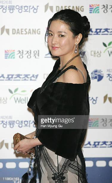 Lee Young-Ae during 26th Annual Blue Dragon Film Awards - Arrivals at Youido, KBS Hall in Seoul, South, South Korea.