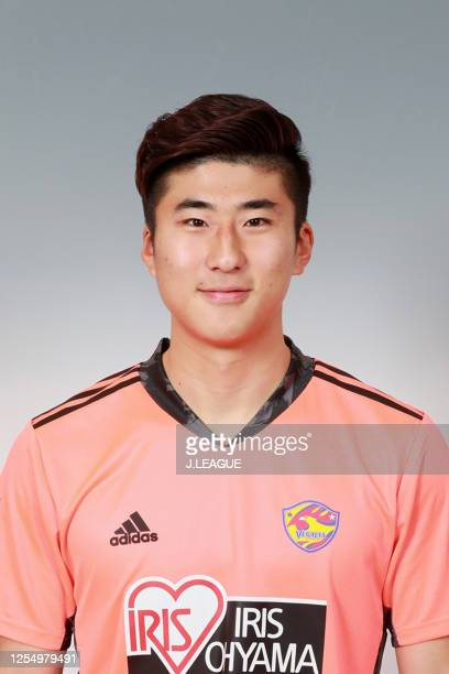 Lee Yunoh poses for photographs during the Vegalta Sendai portrait session on January 9, 2020 in Japan.