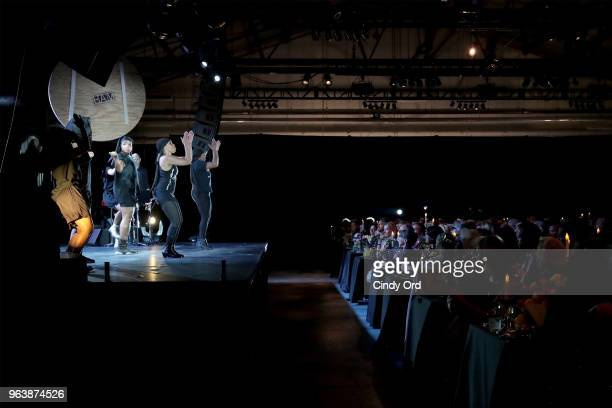 LeeAnet Noble performs onstage with Quizassa and Team Vicious attends the BAM Gala 2018 honoring Darren Aronofsky Jeremy Irons and Nora Ann Wallace...