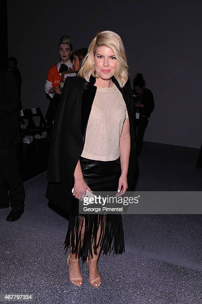 LeeAnn Cuthbert attends World MasterCard Fashion Week Fall 2015 Collections Day 4 at David Pecaut Square on March 26 2015 in Toronto Canada