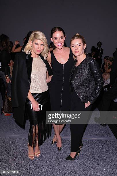 LeeAnn Cuthbert Tessa Virtue and Elisha Cuthbert attend World MasterCard Fashion Week Fall 2015 Collections Day 4 at David Pecaut Square on March 26...