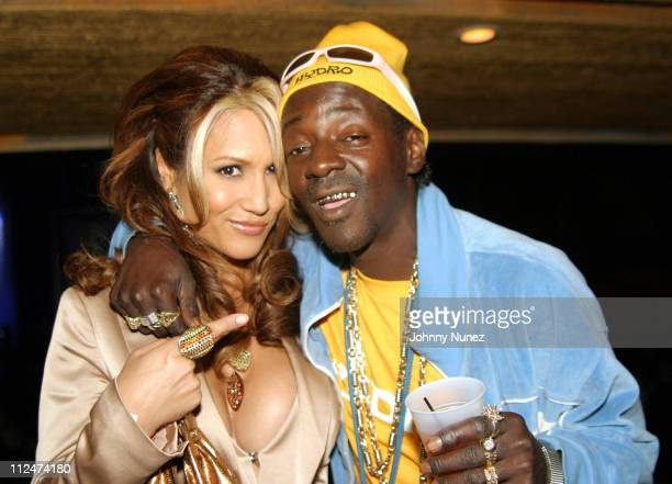 Leeann Tweeden and Flavor Flav during Stuff Magazine Party November 14 2004 at Avalon in Hollywood California United States