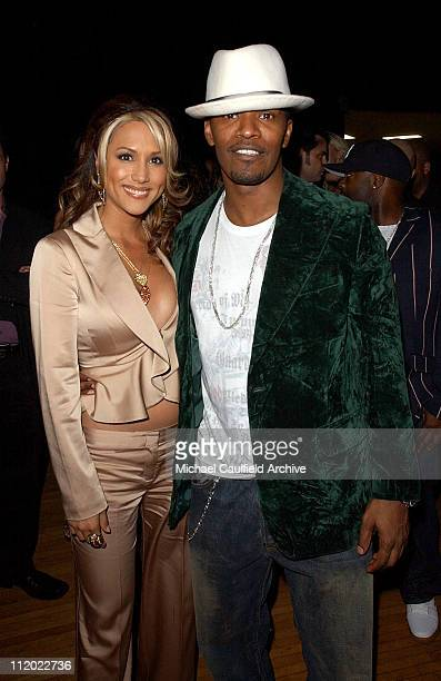 Leeann Tweeden and Jamie Foxx during 32nd Annual American Music Awards After Party Sponsored by FHM Magazine at Shrine Auditorium in Los Angeles...