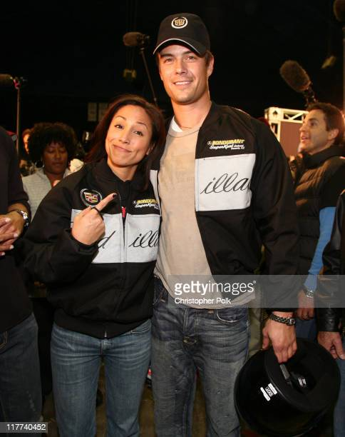 Leeann Tweeden and Josh Duhamel during Super Bowl XL Fourth Annual Cadillac Super Bowl Grand Prix at Michigan State Fair Grounds in Detroit Michigan...