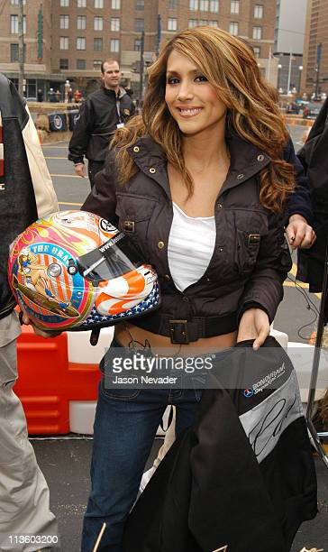 Leeann Tweeden during The 2nd Annual Cadillac Super Bowl Grand Prix at Central Parking Systems in Houston Texas United States