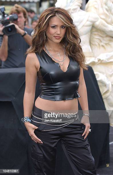 Leeann Tweeden during 'The Matrix Reloaded' Premiere Arrivals at The Mann Village Theater in Westwood California United States