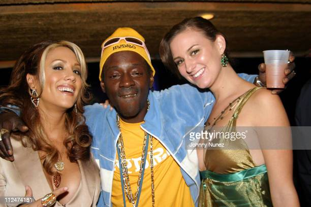 Leeann Tweeden Flavor Flav and guest during Stuff Magazine Party November 14 2004 at Avalon in Hollywood California United States