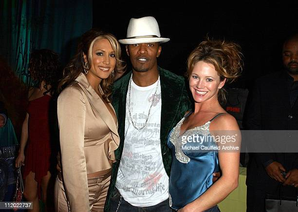 Leeann Tweeden Jamie Foxx and Heather Schliewen FHM