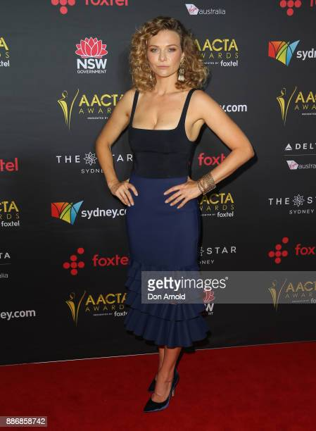 Leeanna Walsman poses during the 7th AACTA Awards at The Star on December 6 2017 in Sydney Australia