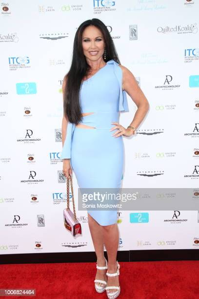 Leeanne Locken attends Jill Zarin's 6th Annual Luxury Luncheon in honor of Bobby Zarin at Topping Rose House on July 28 2018 in Bridgehampton New York