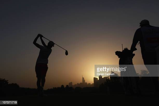 LeeAnne Pace of South Africa playing in the proam as a preview for the 2010 Dubai Ladies Masters on the Majilis Course at The Emirates Golf Club on...