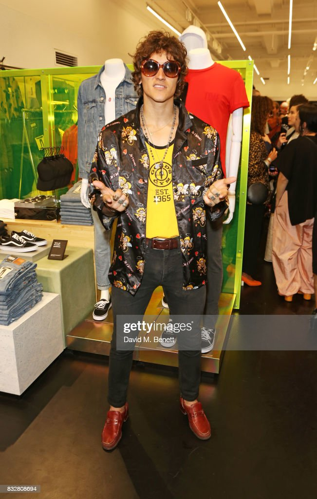 Leebo Freeman attends the Weekday store launch on August 16, 2017 in London, England.
