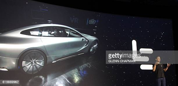 LeEco cofounder and chief executive Yueting Jia at a press event in San Francisco discusses the Chinese technology company's move into the US market...