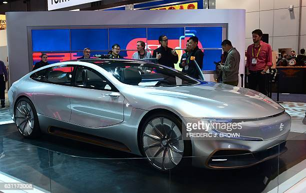 LeEco's LeSee Pro concept car on display at the 2017 Consumer Electronic Show in Las Vegas Nevada on January 7 2017 / AFP / Frederic J BROWN