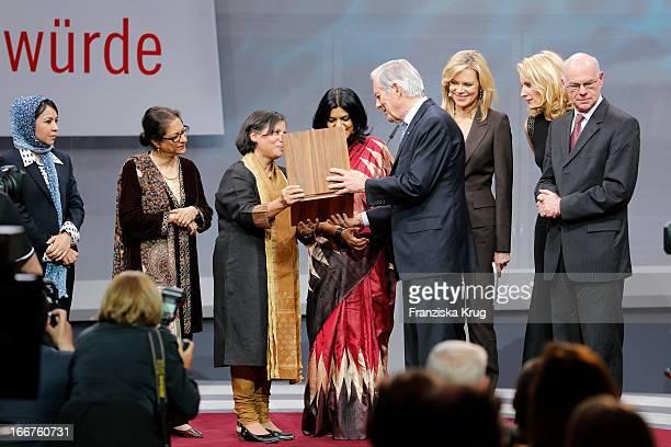 Leeda Yacoobi Asma Jahangir Suneeta Dhar Kalpana Viswanath Roland Berger Nina Ruge Maria Furtwaengler and Norbert Lammert attend the 'Roland Berger...