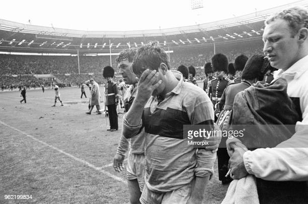 Leeds 11-10 Wakefield Trinity, Rugby League Challenge Cup Final match at Wembley Stadium, London, Saturday 11th May 1968. Don Fox of Wakefield at end...