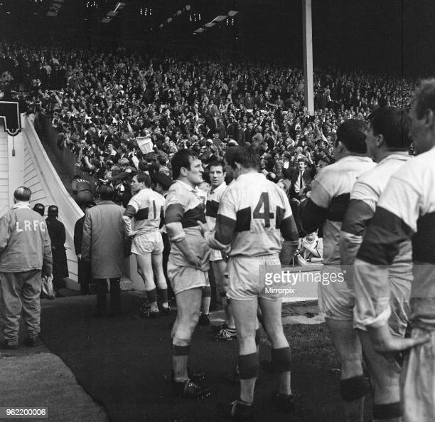 Leeds 1110 Wakefield Trinity Rugby League Challenge Cup Final match at Wembley Stadium London Saturday 11th May 1968 Don Fox of Wakefield at end of...