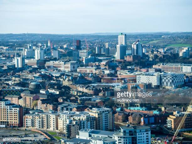 Leeds Aerial Cityscape from South East Looking North