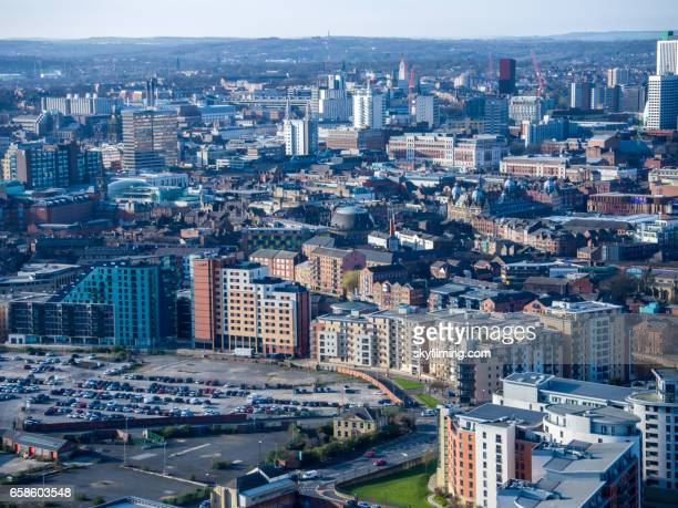 Leeds Aerial Cityscape with Corn Exchange