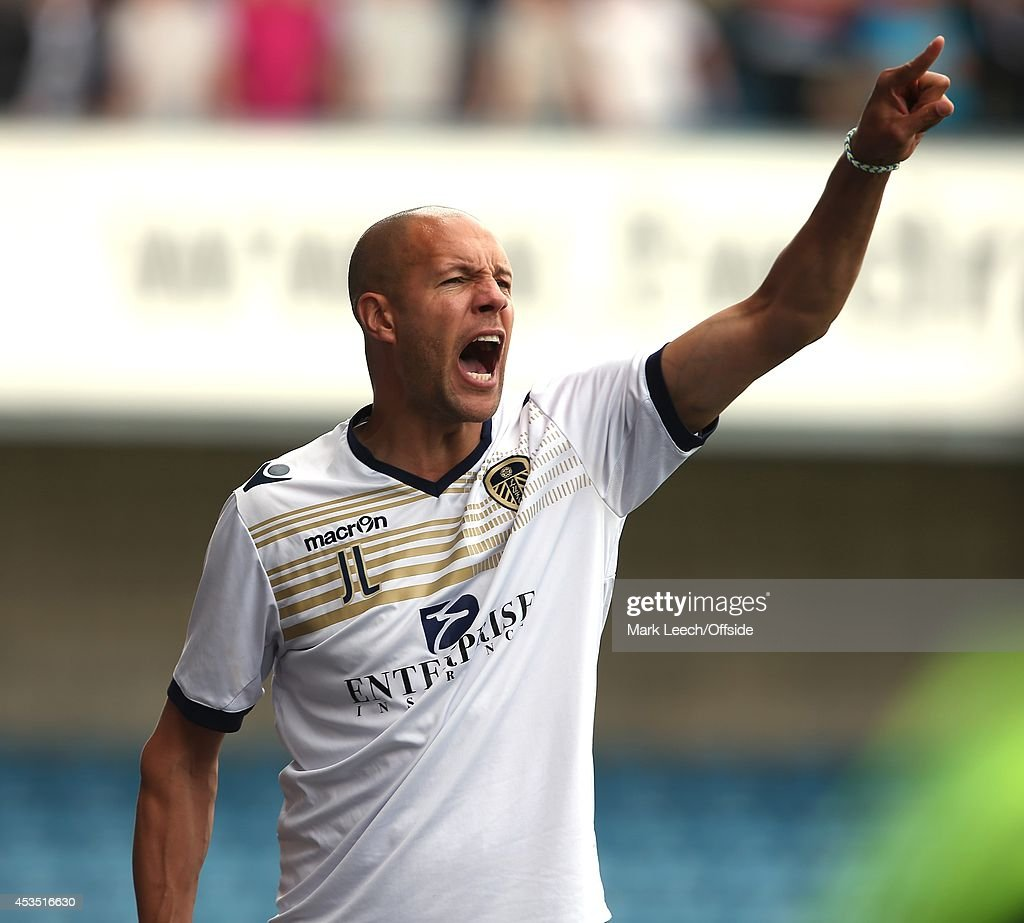 Leeds assistant coach Junior Lewis during the Sky Bet Championship match between Millwall and Leeds United at The Den on August 9, 2014 in London, England.