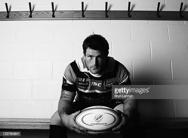 Leeds Carnegie Captain Andy Titterell poses for a photo during the RFU Championship Season Launch at Twickenham Stadium on August 9, 2011 in London,...