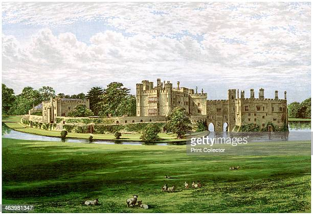 Leeds Castle, Kent, home of the Wykeham-Martin family, c1880. Originally built in 1119 by Henry I, Leeds Castle was transformed by Henry VIII into a...