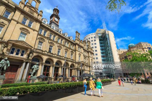 Leeds City Square - the former Post Office building which is now a restaurant and bar