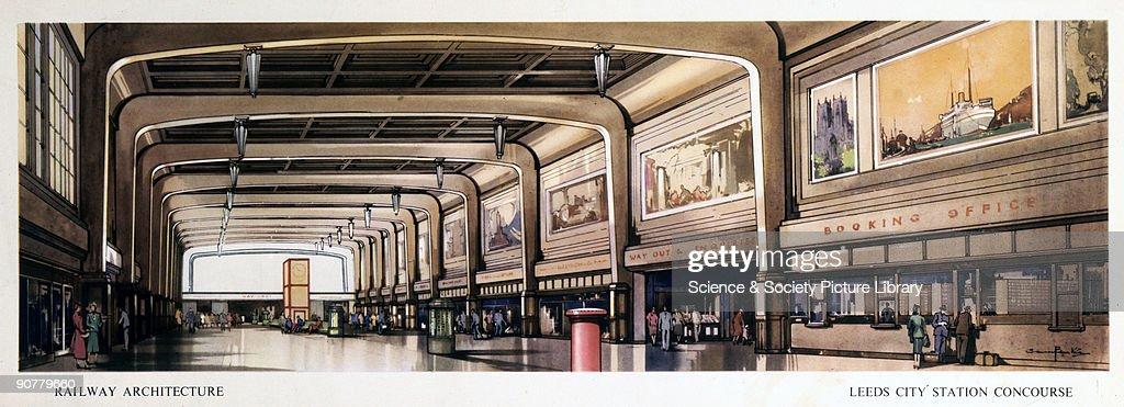 Leeds City Station Concourse, BR (LMR) ca : News Photo