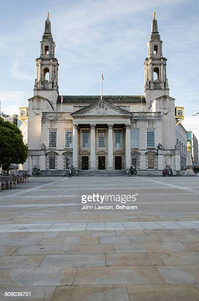 leeds civic hall, leeds, west yorkshire, england - leeds civic hall stock photos and pictures