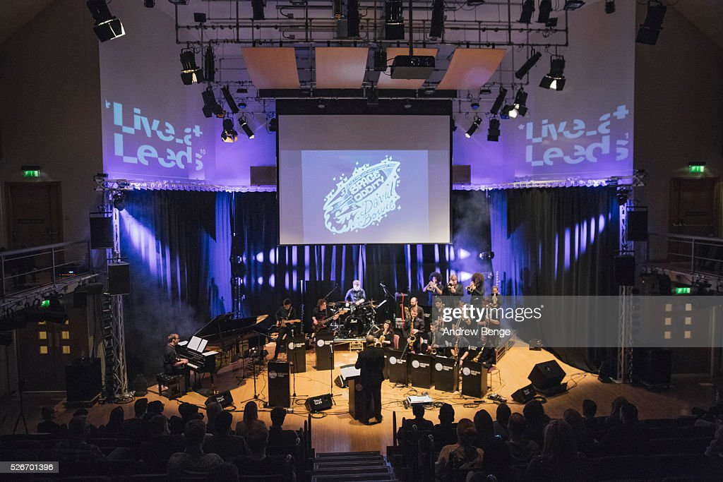Leeds College Of Music Big Band perform a tribute to the late David Bowie at Leeds College Of Music during Live on April 30, 2016 in Leeds, England.