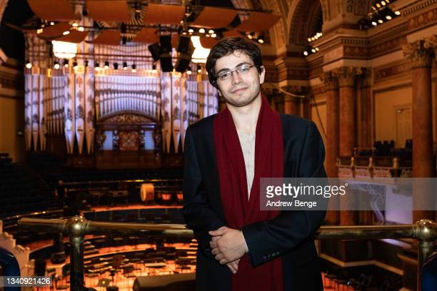 Leeds International Piano Competition finalist Ariel Lanyi from Israel poses in Leeds Town Hall during the Leeds Piano Trail 2021 on September 17,...