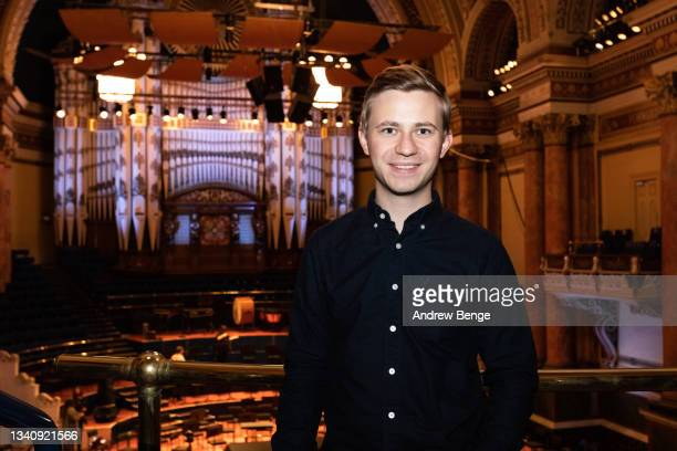 Leeds International Piano Competition finalist Dmytro Choni from Ukraine poses in Leeds Town Hall during the Leeds Piano Trail 2021 on September 17,...