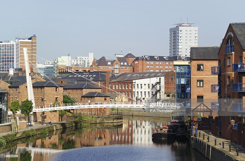 Leeds Liverpool Canal, Brewery Wharf, Leeds, Yorkshire, England : Stock Photo