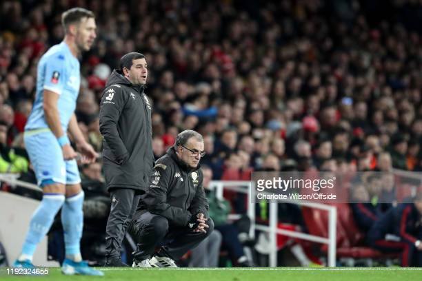 Leeds manager Marcelo Bielsa during the FA Cup Third Round match between Arsenal and Leeds United at Emirates Stadium on January 6 2020 in London...