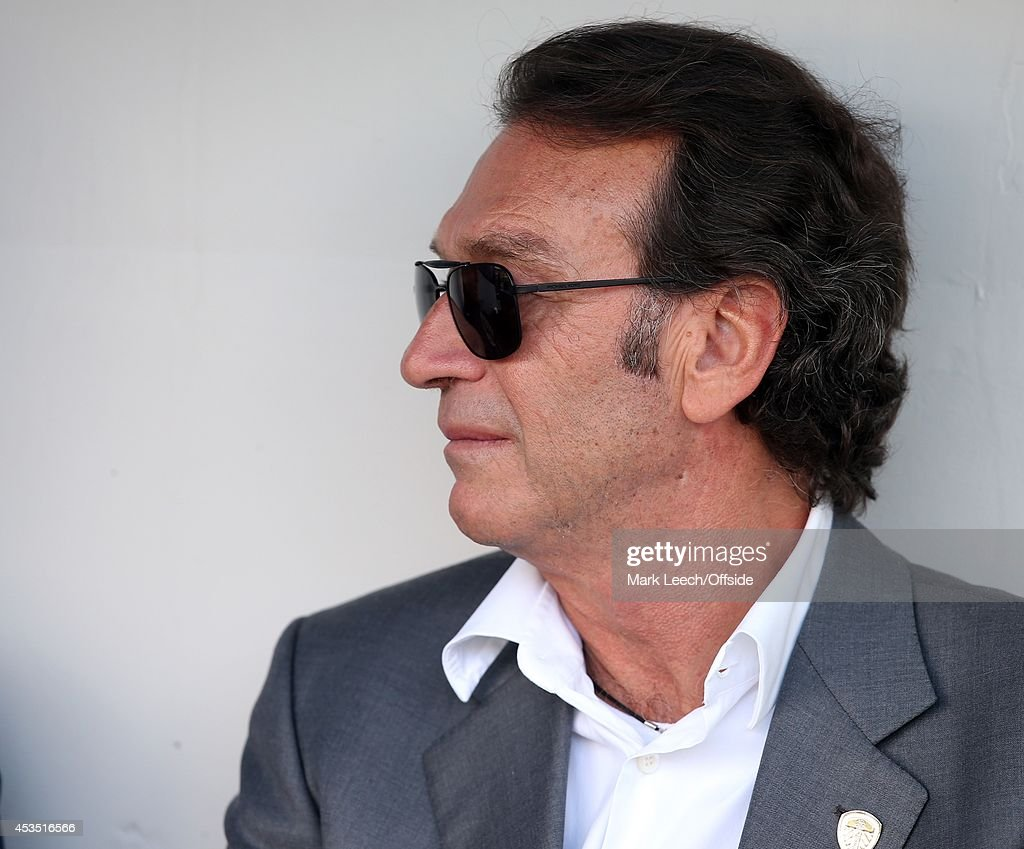 Leeds owner Massimo Cellino during the Sky Bet Championship match between Millwall and Leeds United at The Den on August 9, 2014 in London, England.