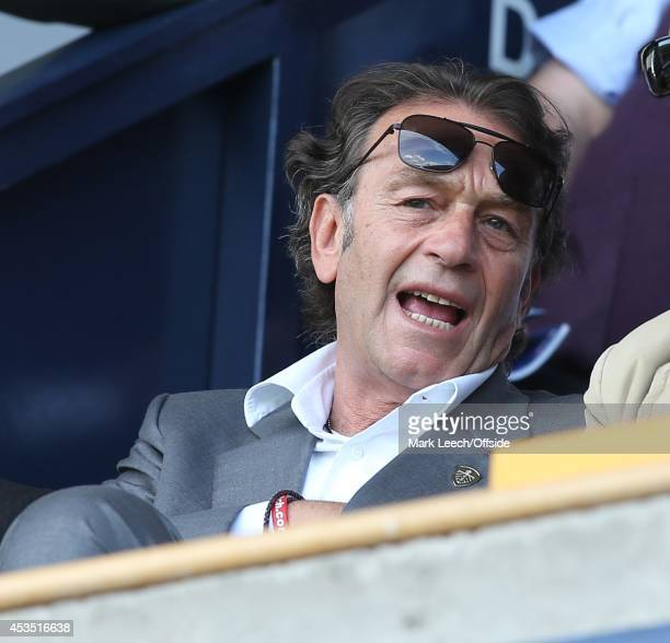 Leeds owner Massimo Cellino during the Sky Bet Championship match between Millwall and Leeds United at The Den on August 9 2014 in London England