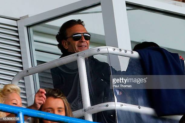 Leeds owner Massimo Cellino watches on during the Sky Bet Championship match between Leeds United and Middlesbrough at Elland Road on August 16 2014...