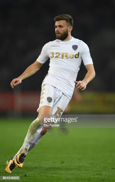 Leeds player Stuart Dallas in action during the Sky Bet Championship match between Cardiff City and Leeds United at Cardiff City Stadium on September...