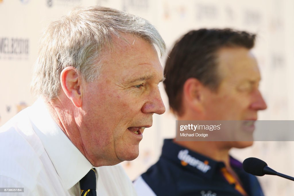 Melbourne Storm Media Announcement : News Photo