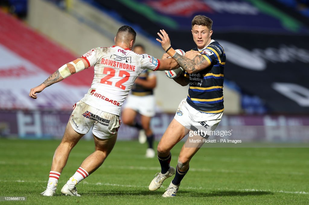Hull KR v Leeds Rhinos - Betfred Super League - Halliwell Jones Stadium : News Photo