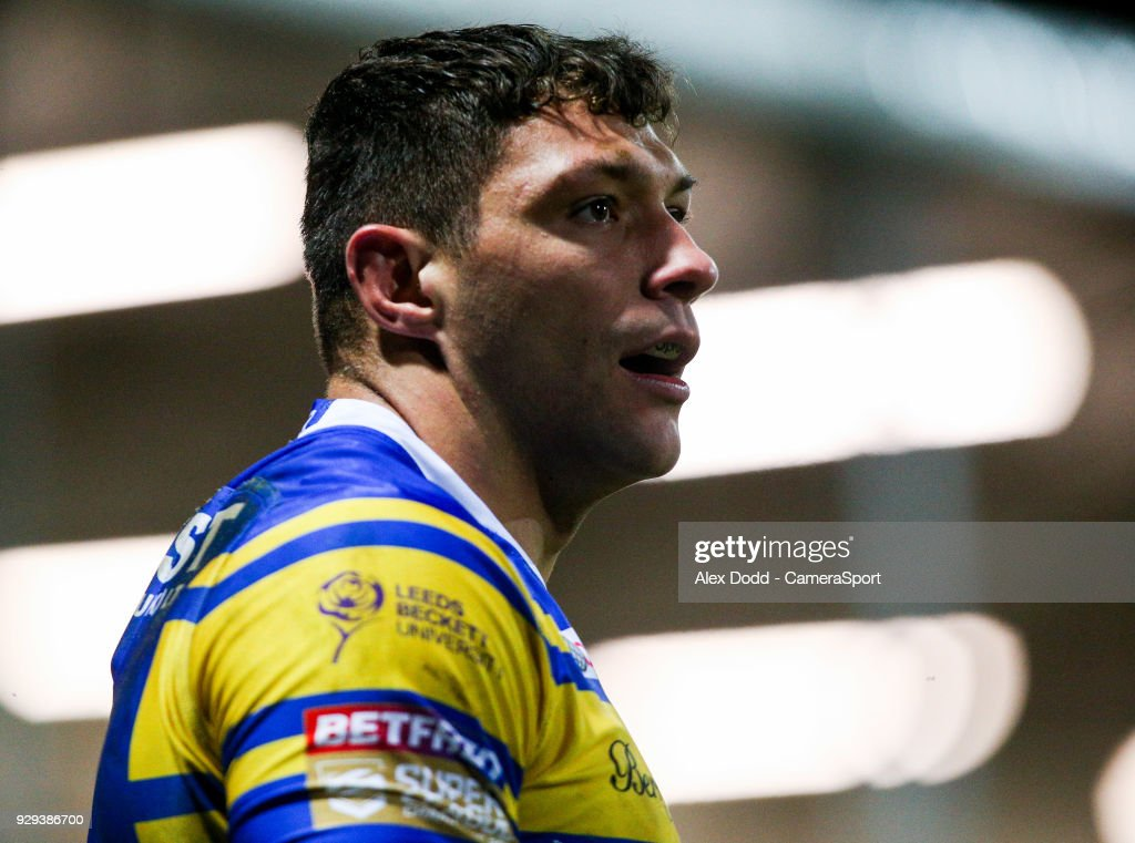 Leeds Rhinos' Ryan Hall during the Betfred Super League Round 5 match between Leeds Rhinos and Hull FC at Headingley Carnegie Stadium on March 8, 2018 in Leeds, England.