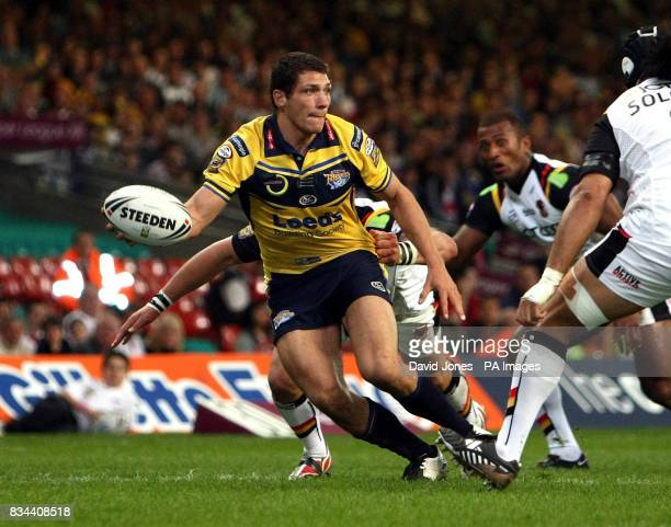 Leeds Rhinos wing Ryan Hall in action during the engage Super League match at the Millennium Stadium Cardiff