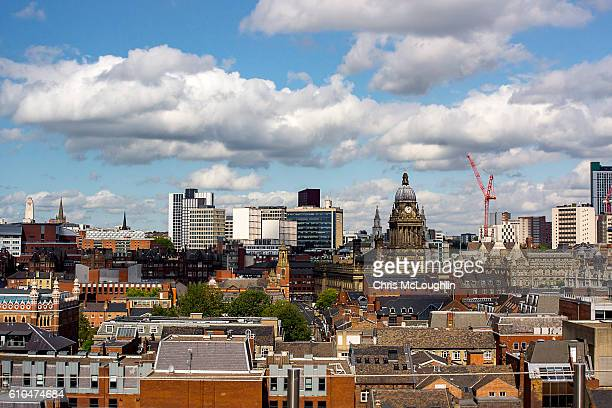 leeds skyline - leeds stock pictures, royalty-free photos & images