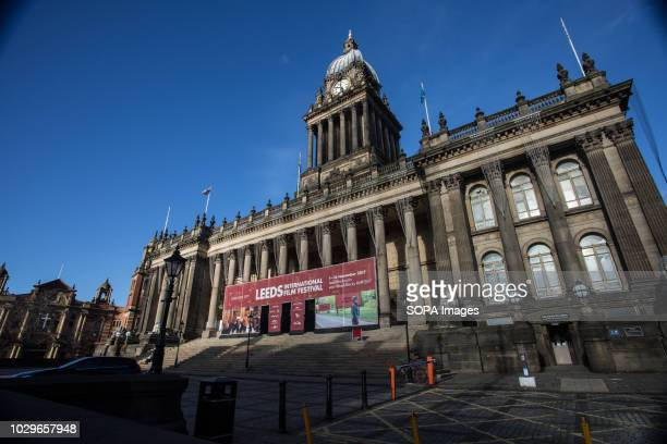 Leeds town hall seen during Leeds Film Festival Leeds is the largest city in the northern English county of Yorkshire