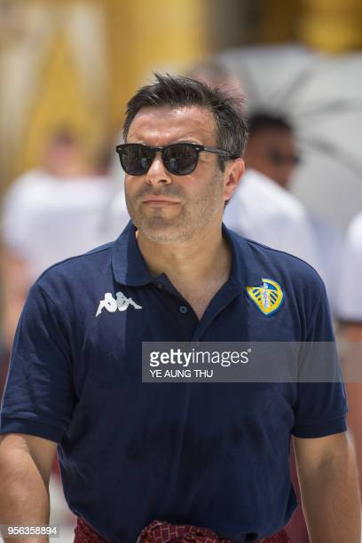 Leeds United FC owner Andrea Radrizzani and team members visits Yangon's landmark Buddhist Shwedagon pagoda on May 9 2018 Leeds United arrived in...