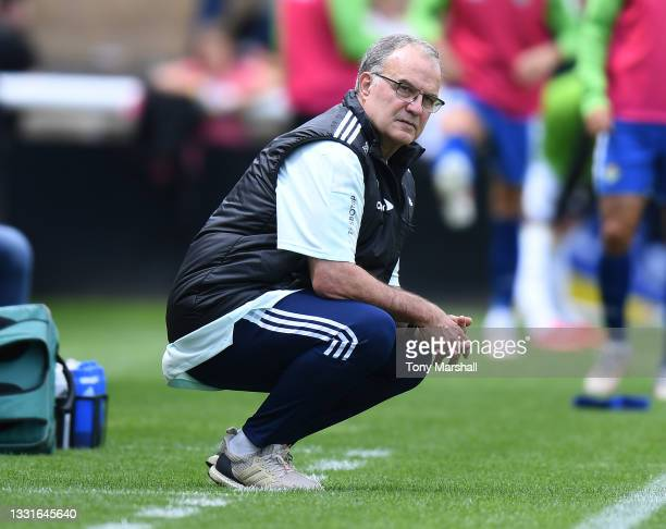 Leeds United Head Coach Marcelo Bielsa during the Pre-Season Friendly match between Leeds United and Real Betis at Loughborough University on July...