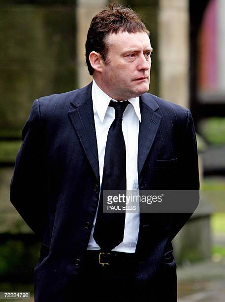 British snooker player Jimmy White arrives at the funeral of snooker player Paul Hunter at Leeds Parish Church in Leeds England 19 October 2006...